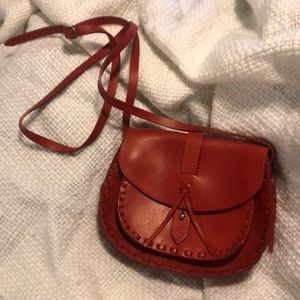 EUC Madewell Red Leather Cross Body Bag